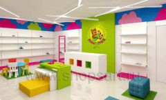 Дизайн интерьера детского магазина Мишутка торговая мебель КАРАМЕЛЬ Дизайн 03