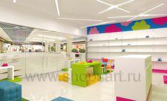 Дизайн интерьера детского магазина Мишутка торговая мебель КАРАМЕЛЬ Дизайн 06