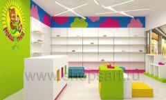 Дизайн интерьера детского магазина Мишутка торговая мебель КАРАМЕЛЬ Дизайн 07
