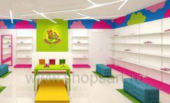 Дизайн интерьера детского магазина Мишутка торговая мебель КАРАМЕЛЬ Дизайн 11