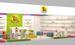 Дизайн интерьера детского магазина Мишутка торговая мебель КАРАМЕЛЬ Дизайн 13