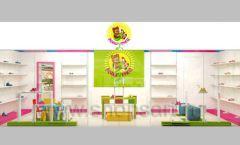 Дизайн интерьера детского магазина Мишутка торговая мебель КАРАМЕЛЬ Дизайн 14