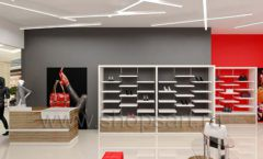 Дизайн магазина обуви торговое оборудование ГЛАМУР Дизайн 02