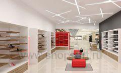 Дизайн магазина обуви торговое оборудование ГЛАМУР Дизайн 07