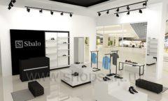 Дизайн интерьера магазина обуви Sbalo ТРЦ Спектр торговое оборудование СТИЛЬ ЛОФТ Дизайн 01