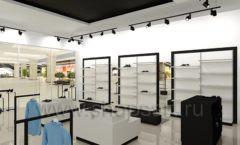 Дизайн интерьера магазина обуви Sbalo ТРЦ Спектр торговое оборудование СТИЛЬ ЛОФТ Дизайн 12