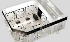 Дизайн интерьера магазина обуви Sbalo ТРЦ Спектр торговое оборудование СТИЛЬ ЛОФТ Дизайн 17