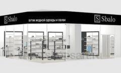 Дизайн интерьера магазина обуви Sbalo ТРЦ Спектр торговое оборудование СТИЛЬ ЛОФТ Дизайн 24