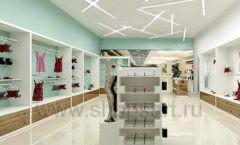 Дизайн интерьера магазина нижнего белья торговое оборудование ИЗУМРУД Дизайн 04
