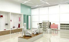 Дизайн интерьера магазина нижнего белья торговое оборудование ИЗУМРУД Дизайн 07