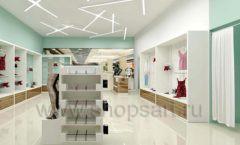 Дизайн интерьера магазина нижнего белья торговое оборудование ИЗУМРУД Дизайн 12
