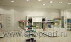 Дизайн интерьера детского магазина Винни ТЦ Юнимолл коллекция БЕЛАЯ КЛАССИКА Дизайн 01