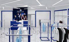 Дизайн интерьера детского магазина Перемена ТРЦ Азовский коллекция ГОЛУБАЯ ЛАГУНА Дизайн 09