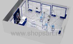 Дизайн интерьера детского магазина Перемена ТРЦ Азовский коллекция ГОЛУБАЯ ЛАГУНА Дизайн 16