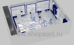 Дизайн интерьера детского магазина Перемена ТРЦ Азовский коллекция ГОЛУБАЯ ЛАГУНА Дизайн 21