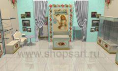 Дизайн интерьера детского магазина Королевская вышивка коллекция ВИНТАЖ Дизайн 02