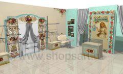 Дизайн интерьера детского магазина Королевская вышивка коллекция ВИНТАЖ Дизайн 03