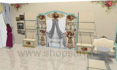 Дизайн интерьера детского магазина Королевская вышивка коллекция ВИНТАЖ Дизайн 04