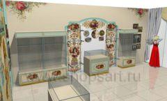 Дизайн интерьера детского магазина Королевская вышивка коллекция ВИНТАЖ Дизайн 06