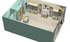 Дизайн интерьера детского магазина Королевская вышивка коллекция ВИНТАЖ Дизайн 07