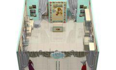 Дизайн интерьера детского магазина Королевская вышивка коллекция ВИНТАЖ Дизайн 08