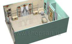 Дизайн интерьера детского магазина Королевская вышивка коллекция ВИНТАЖ Дизайн 09