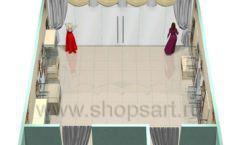 Дизайн интерьера детского магазина Королевская вышивка коллекция ВИНТАЖ Дизайн 10