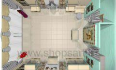 Дизайн интерьера детского магазина Королевская вышивка коллекция ВИНТАЖ Дизайн 11