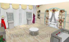 Дизайн интерьера 2 детского магазина Королевская вышивка коллекция ВИНТАЖ Дизайн 04