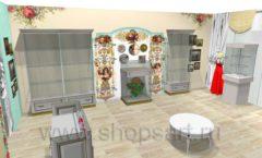 Дизайн интерьера 2 детского магазина Королевская вышивка коллекция ВИНТАЖ Дизайн 05