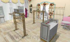 Дизайн интерьера 2 детского магазина Королевская вышивка коллекция ВИНТАЖ Дизайн 06