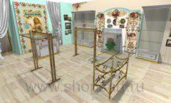Дизайн интерьера 2 детского магазина Королевская вышивка коллекция ВИНТАЖ Дизайн 09