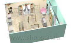 Дизайн интерьера 2 детского магазина Королевская вышивка коллекция ВИНТАЖ Дизайн 11