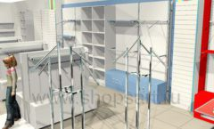 Дизайн интерьера детского магазина Детки конфетки коллекция торгового оборудования ГОЛУБАЯ ЛАГУНА Дизайн 3