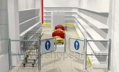 Дизайн интерьера детского магазина Детки конфетки коллекция торгового оборудования ГОЛУБАЯ ЛАГУНА Дизайн 5