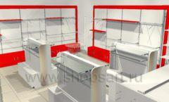 Дизайн интерьера детского магазина Детки конфетки коллекция торгового оборудования ГОЛУБАЯ ЛАГУНА Дизайн 6
