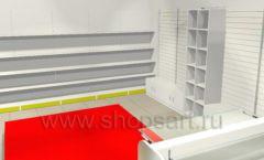 Дизайн интерьера детского магазина Детки конфетки коллекция торгового оборудования ГОЛУБАЯ ЛАГУНА Дизайн 8