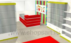 Дизайн интерьера детского магазина Детки конфетки коллекция торгового оборудования ГОЛУБАЯ ЛАГУНА Дизайн 9