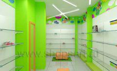 Дизайн детского магазина Емеля Южно-Сахалинск торговое оборудование КАРАМЕЛЬ Дизайн 07