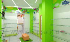 Дизайн детского магазина Емеля Южно-Сахалинск торговое оборудование КАРАМЕЛЬ Дизайн 09