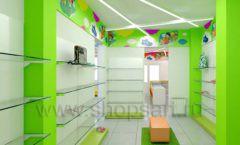 Дизайн детского магазина Емеля Южно-Сахалинск торговое оборудование КАРАМЕЛЬ Дизайн 10