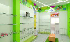 Дизайн детского магазина Емеля Южно-Сахалинск торговое оборудование КАРАМЕЛЬ Дизайн 11