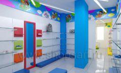 Дизайн детского магазина Емеля Южно-Сахалинск торговое оборудование КАРАМЕЛЬ Дизайн 13