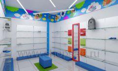 Дизайн детского магазина Емеля Южно-Сахалинск торговое оборудование КАРАМЕЛЬ Дизайн 14