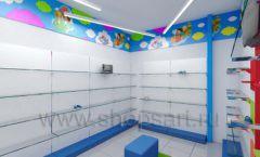 Дизайн детского магазина Емеля Южно-Сахалинск торговое оборудование КАРАМЕЛЬ Дизайн 16