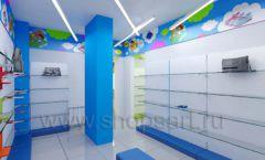 Дизайн детского магазина Емеля Южно-Сахалинск торговое оборудование КАРАМЕЛЬ Дизайн 17