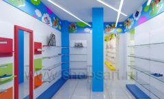 Дизайн детского магазина Емеля Южно-Сахалинск торговое оборудование КАРАМЕЛЬ Дизайн 18