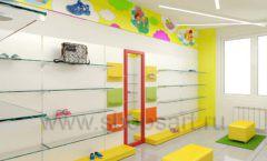 Дизайн детского магазина Емеля Южно-Сахалинск торговое оборудование КАРАМЕЛЬ Дизайн 19