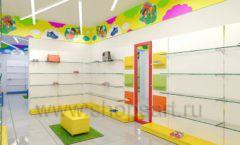 Дизайн детского магазина Емеля Южно-Сахалинск торговое оборудование КАРАМЕЛЬ Дизайн 20