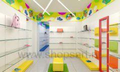 Дизайн детского магазина Емеля Южно-Сахалинск торговое оборудование КАРАМЕЛЬ Дизайн 21